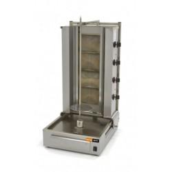 Machine à kebab 4 brûleurs Gaz