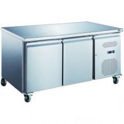Table réfrigérée 2 portes 1400 *600 sur roulettes
