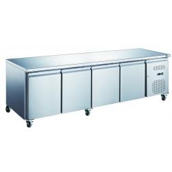 table réfrigérée 4 portes sur roulettes