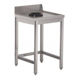 Table inox avec vide ordures