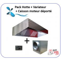 Pack 1 à 3 m Hotte + Caisson moteur déporté +...
