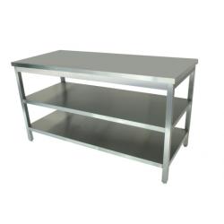 Table inox + 2 étagères L800xP700 pour four,...