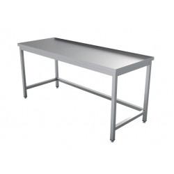 Table inox P700 + Dosseret + dessous libre