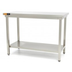 Table inox + étagère L1500xP600
