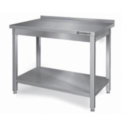 Table inox dosseret + étagère L1000xP700...