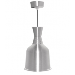 Lampe chauffante métal brossé