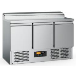 Comptoir réfrigéré 3 portes L1400 + Saladette...