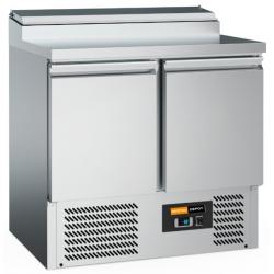 Comptoir réfrigéré inox 2 portes + Saladette...