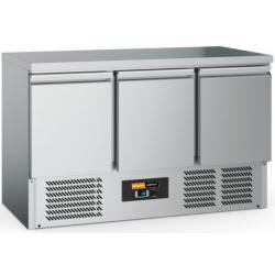 Comptoir réfrigérée inox 3 portes 1400