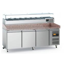 Comptoir marbre réfrigéré + saladette 2000