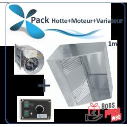 Pack Hotte classique 1 à 3m Hotte + Moteur 230v...