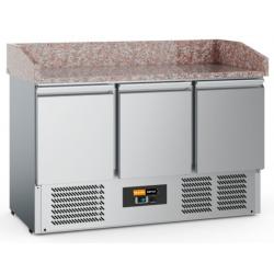 Comptoir marbre réfrigéré 1400