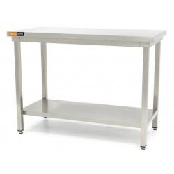 Table inox + étagère L800xP600