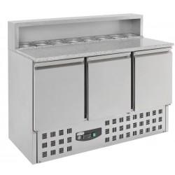 Comptoir marbre réfrigéré + saladette L1365